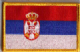 Serbia Embroidered Flag Patch, style 08.